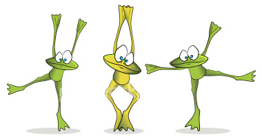 dancing frogs